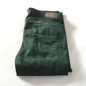 Forest green Zara skinny jeans